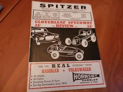 1960 brochure cloverleaf speedway program cleveland ohio