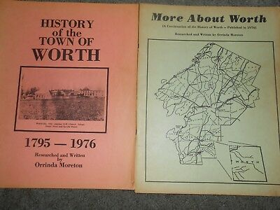 1976 History of the Town of Worth NY Author Signed + 1981 More About Worth