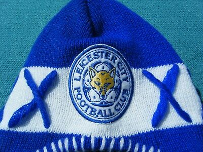 Official Leicester City Fc -  Hat - Wooly Ski Design - Thermal - Must Be Seen -