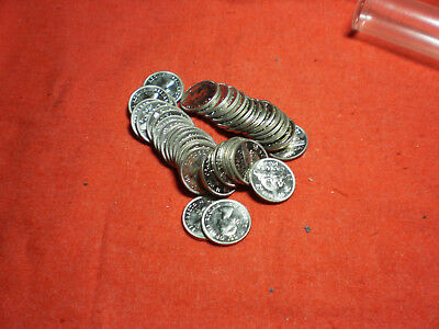 1964 Canada 5 Cent roll all uncirculated but a few have lost there luster