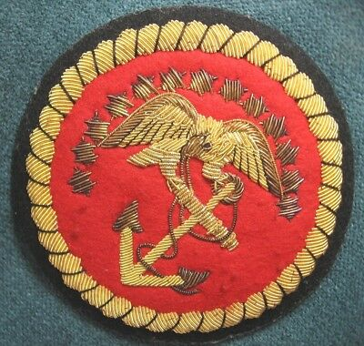 b USMC Communications History Division Embroidered Bullion Blazer Patch 13 Stars