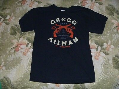 Greg Allman 2011 Concert Tour T Shirt Black Low Country Blues Rock The Brothers