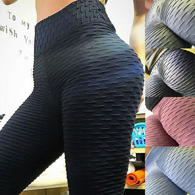US Women Butt Lift Yoga Pants Hip Push Up Leggings Exercise Workout Bottom M767