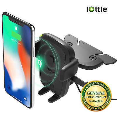 iOttie Easy One Touch Wireless Qi Charging Fast Charge CD Slot Universal Mount