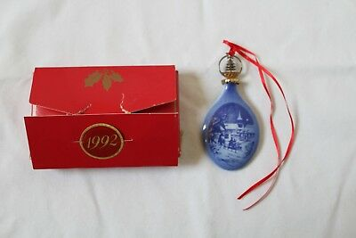 Bing & Grondahl Christmas Drop Ornament ~~ 1992 ~~ With Box