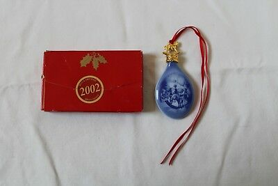 "Bing & Grondahl Christmas Drop Ornament 2002 ""christmas Eve"" With Box"