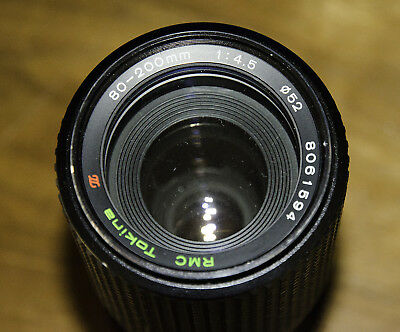 Tokina 80-200mm f/4.5-22 Suit MC Minolta Lens In Good Working Condition