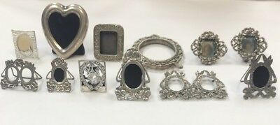 Estate Lot Of Sterling And 800 Silver Frames No Glass Windows As Is O156