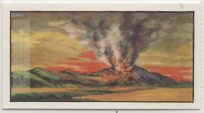 Volcano Eruption Lava Volcanic Ash Gas Magma Vintage Ad Trade Card