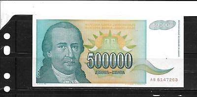 Yugoslavia #131 1993 500000 Dinara Old Vf Circulated Banknote Bill Note Money