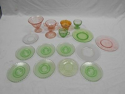 Lot of 16 Vintage Miscellaneous Glassware Items - Candy Dishes/Cup/Plates G12