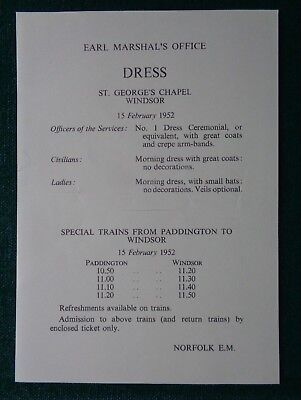Antique Dress Code for Lady-in-Waiting Queen Elizabeth Death King George VI 1952