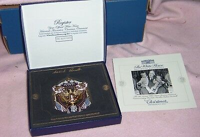 A 2017 The White House Historical Association Christmas Ornament Roosevelt W/Box