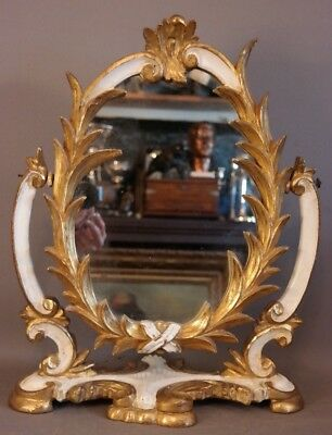 Antique ART NOUVEAU Frame WOOD CARVED Floral ACANTHUS LEAF Lady DRESSING MIRROR