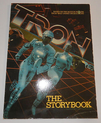 TRON - The Storybook - Paperback PB SC Walt Disney 1982 80s Movie Walt Disney VG