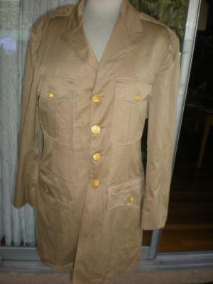 US Army Uniform Blouse/ 1930's Issue. Tan Cotton, Rare, Unissued,  Size Small