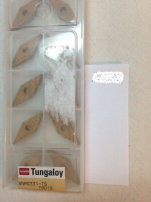 10 New Tungaloy Vnmg 331-Ts Carbide Inserts. 160404-Ts. Grade: T9015  (H602)