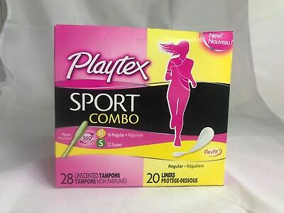 Playtex Sport Combo Pack 16 Regular + 12 Super Tampons & 20 Liners each