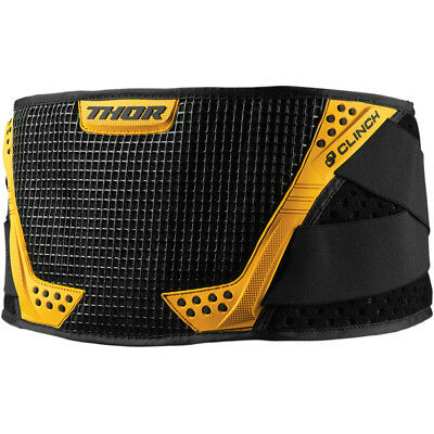 New 2019 Thor Mx Black + Yellow Youth Kids Clinch Kidney Belt Protection S/m