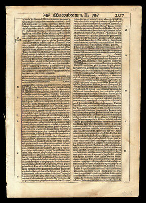 Old Testament 1539 Bible Leaf Second Book of Maccabees Chapters 13-15