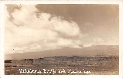 LP05  Volcano Hawaii Hawaiian Islands Vintage Postcard RPPC Uekahuna Mauna Loa
