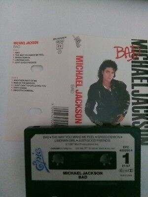 Michael Jackson - Bad - MC - Musikkassette - Tape - Kassette