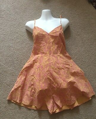 NWT Anthropologie Lilka pink and yellow romper SIze small