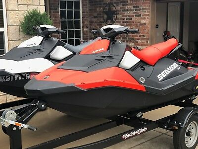 Two 2017 Sea Doo SPARK'S + TRAILER, 2 and 3 seater, 5 hours only Used