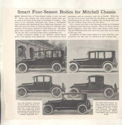 1917 Mitchell Limo Coupe California Top Automobile Article Racine WI wz5739