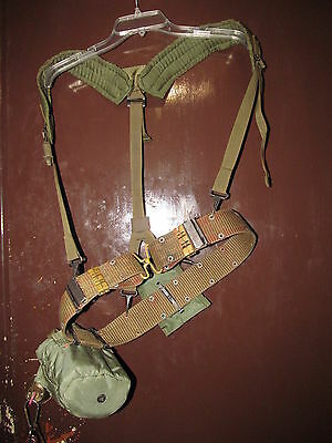 Usgi Large Belt (Brass Buckles), Suspenders, First Aid Pouch, Canteen & Pouch