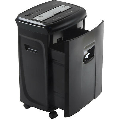 Document Destroyer Paper and Card Shredder Pullout Basket 12-Sheet Crosscut Home