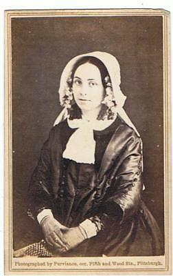 Cdv  Of Lady By Purviance Pittsburgh , United States Copy Of 1847 Daguerreotype