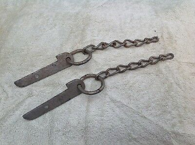 Land Rover Series 1 one pair of original tailgate chains.