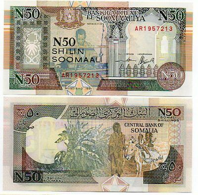 SOMALIA   -   great  UNC  note   50  shillings   #R2
