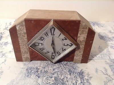 Vintage French 8 Day Marble Mantle Clock - Made in 1962 (2384)