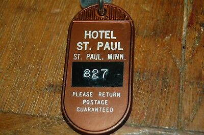 vintage St. Paul, Minnesota - Hotel Saint Paul - Hotel Room Fob