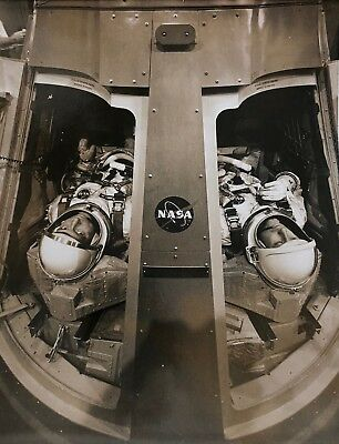 orig. early 1960s NASA photo ASTRONAUTS IN CAPSULE possibly unpublished