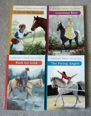 Lot Of 4 Treasured Horses Sc Books By Coleen Hubbard Ages 9-13 Nice!