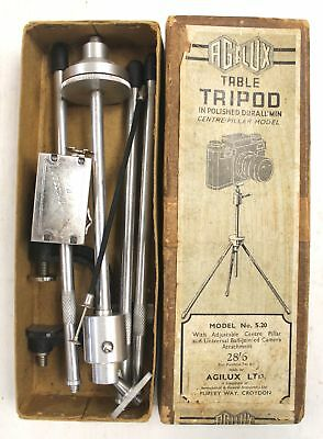 Vintage Duralumin AGILUX Table Camera Tripod No.S.20 – Boxed - B89
