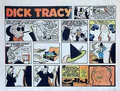 Dick Tracy by Chester Gould - large half-page color Sunday comic - Jan. 2, 1972