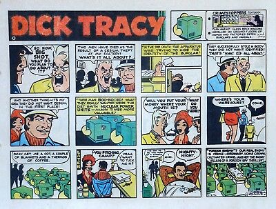 Dick Tracy by Chester Gould - large half-page color Sunday comic, April 2, 1972