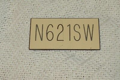 SOUTHWEST AIRLINES TAIL NUMBER PLATE N621SW  Rare item of SWA HISTORY