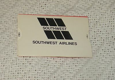 Southwest Airlines 1982 Calendar Mini Mileage Guide Vintage