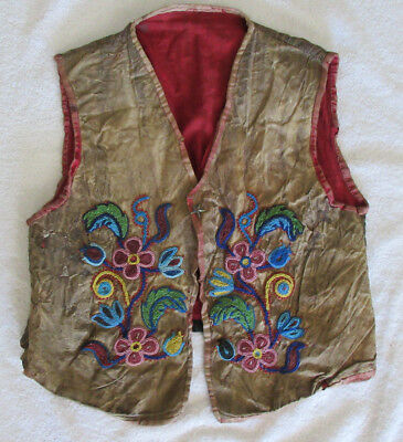 Very Nice Old Iriquois Beaded Vest--Nr!