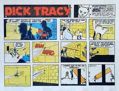 Dick Tracy by Chester Gould - large half-page color Sunday comic - May 14, 1972