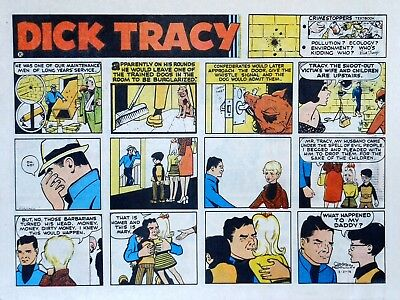 Dick Tracy by Chester Gould - large half-page color Sunday comic - May 21, 1972