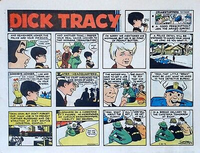 Dick Tracy by Chester Gould - large half-page color Sunday comic - May 28, 1972