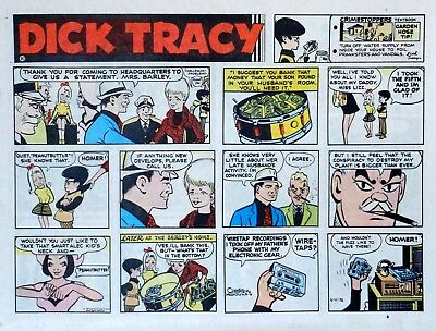 Dick Tracy by Chester Gould - large half-page color Sunday comic - June 11, 1972