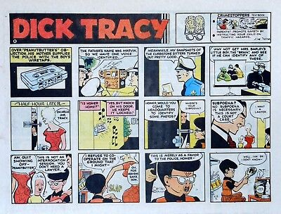 Dick Tracy by Chester Gould - large half-page color Sunday comic - June 18, 1972