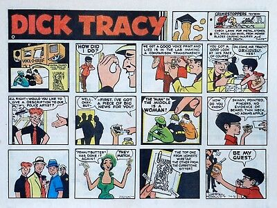 Dick Tracy by Chester Gould - large half-page color Sunday comic - July 9, 1972